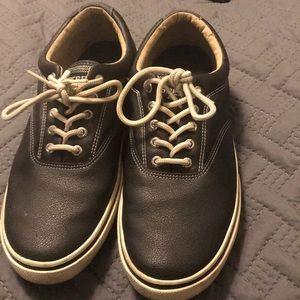 Black leather Sperry Tennis shoe- Size Men's 12